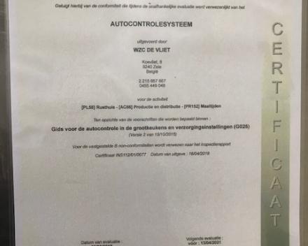 """Zorgnetwerk Trento Campus De Vliet behaalde in april 2018 het """"Smiley"""" certificaat!!"""