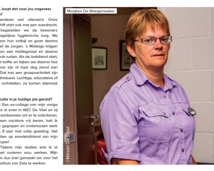 Interview met Marijken van Campus De Vliet afdeling de Waterlelie 1 in de Zelenaar