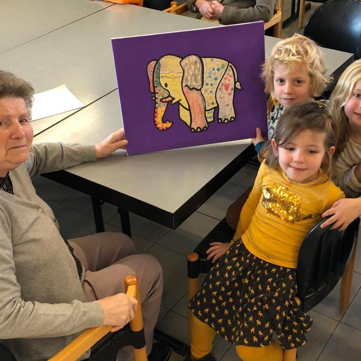 SJ - Kunstwerken maken met de kleuters 23/01/2020